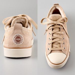 UGG Evera Lace Up Sneakers In Sand